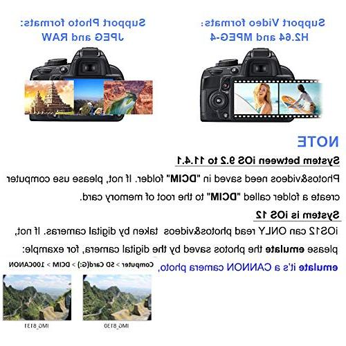 Aiguozer SD Card Camera Reader Adapter for iPad Card for iPhone 5/5s/6/6s/6Plus/7/7s/7Plus/8/8Plus/X/iPad Needed