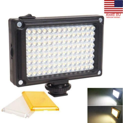 US Rechargable LED Video Light Lamp Photo Studio Wedding Par