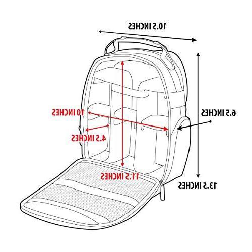 USA GEAR Camera Interior and Resistant Bottom