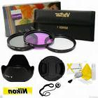 55MM UV CPL FLD HD FILTER KIT PLUS ACCESSORIES FOR NIKON DSL