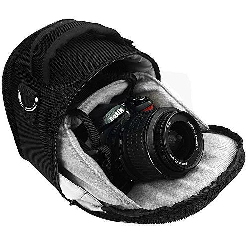 Vangoddy VGLaurelBLK Laurel Camera Case with Removable Shoulder