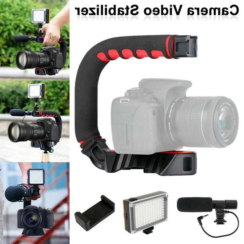video stabilizer camera action dslr handle grip