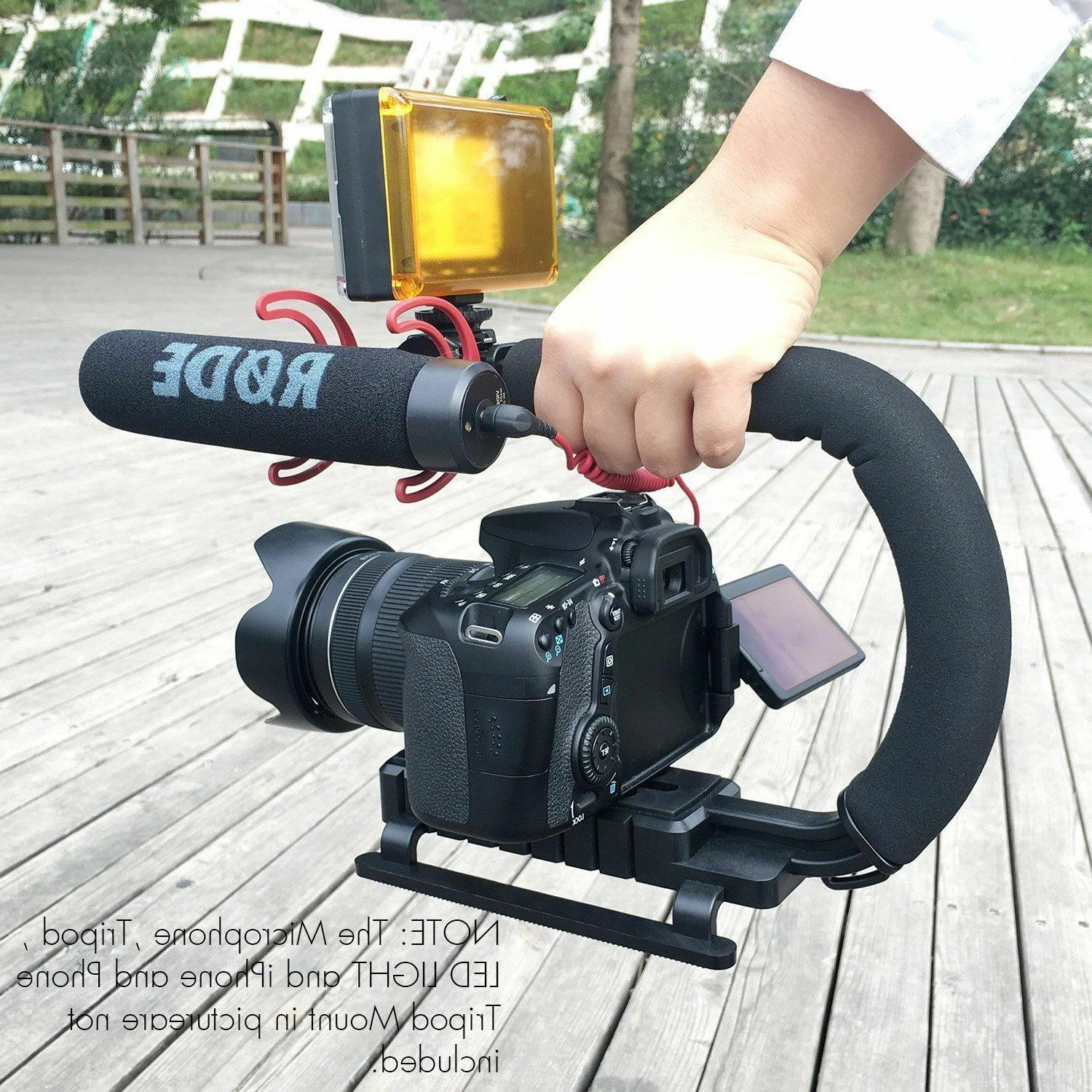 Video Stabilizer Handle Grip iPhone Camcorder