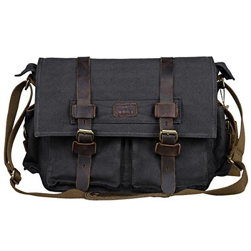 vintage canvas leather trim dslr