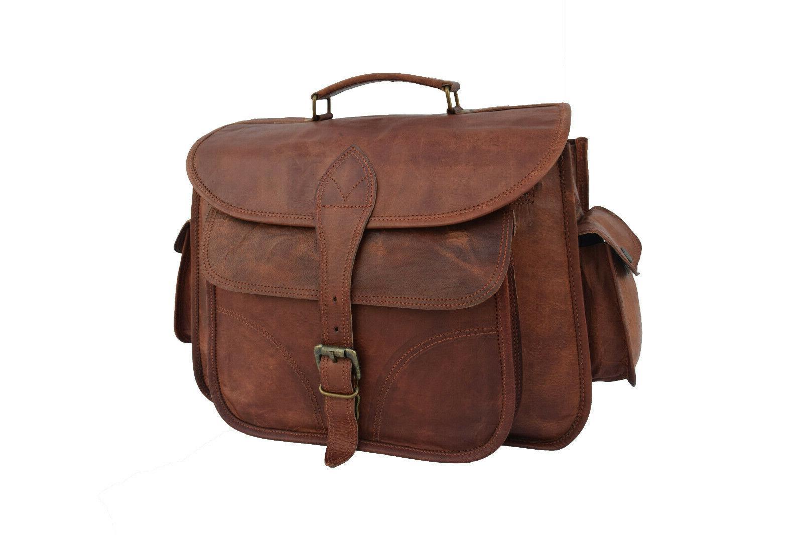 Vintage Leather DSLR Bag Messenger Satchel Crossbody Handbag