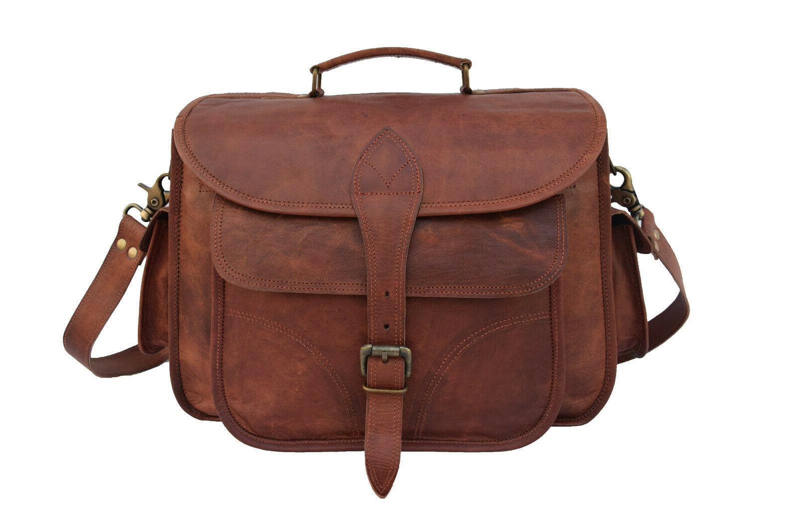Vintage Leather DSLR Bag Messenger Crossbody Handbag