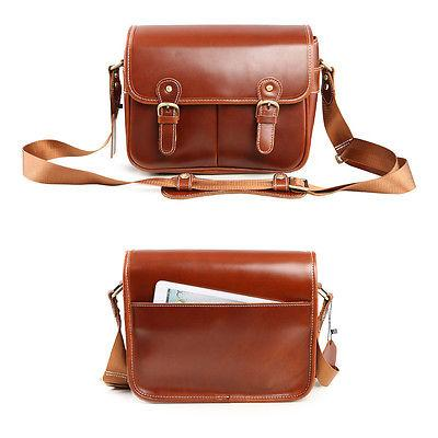 vintage waterproof geniune leather dslr
