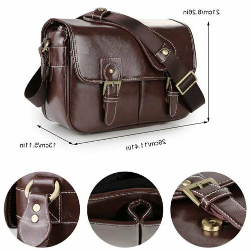 Vintage DSLR Camera Padding Case Shoulder Bag For