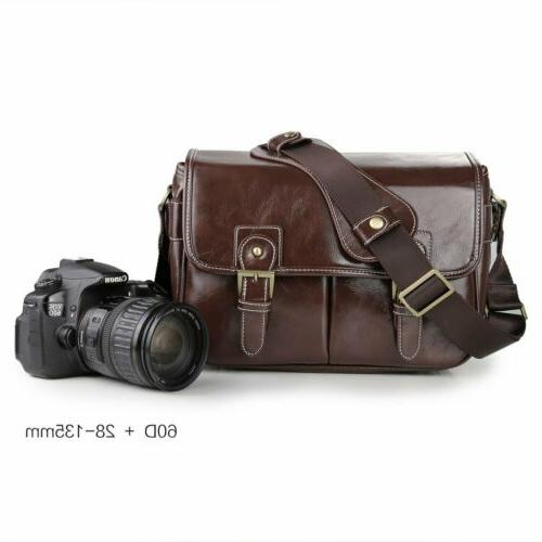 vintage waterproof pu leather dslr