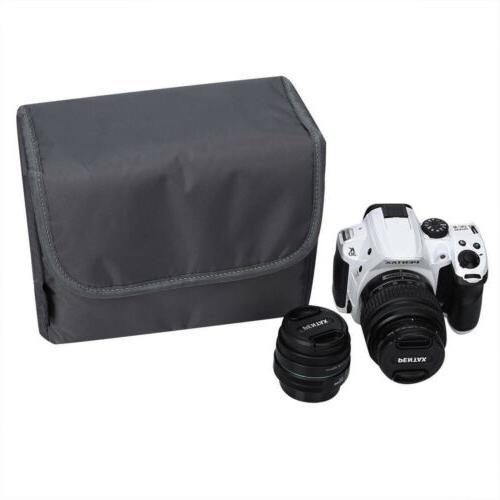 DSLR SLR Partition Padded Water Resistant Camera Bag TLR Ins