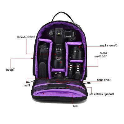 Waterproof Digital DSLR Video Shoulder Bag Case For Nikon