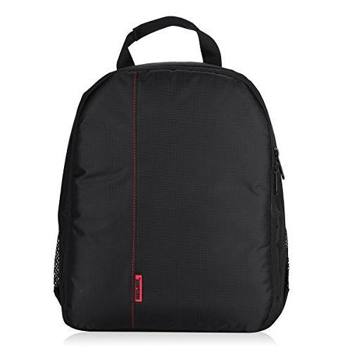 waterproof dslr backpack bag lens