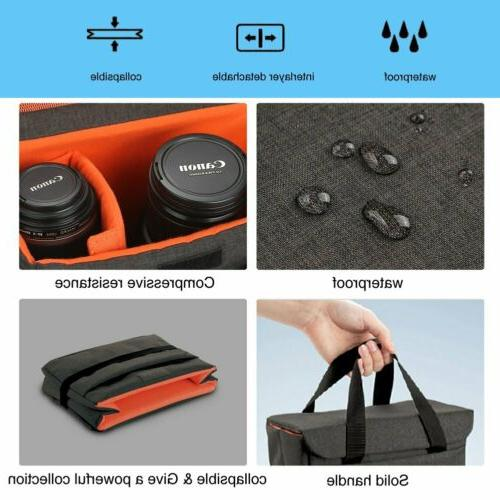 Waterproof DSLR Padded Insert Bag