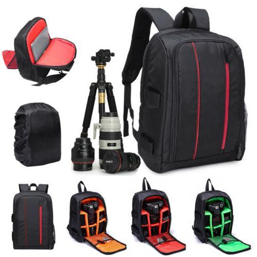 Waterproof DSLR Backpack +Laptop Bag Case