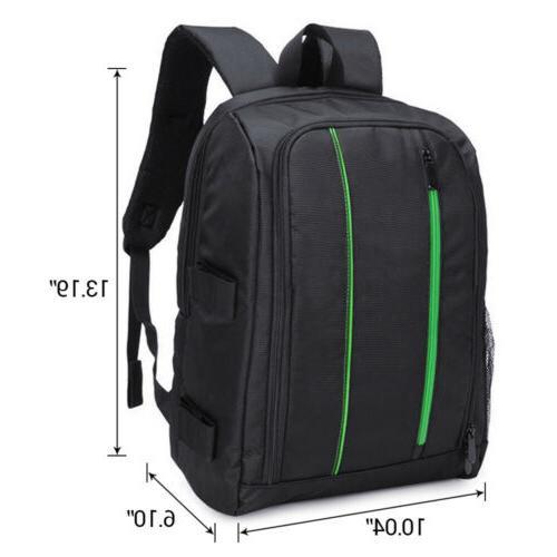 Waterproof DSLR Camera Backpack +Laptop Shoulder Bag Case For Canon