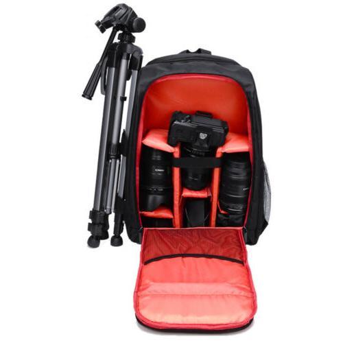 waterproof dslr slr camera backpack laptop shoulder