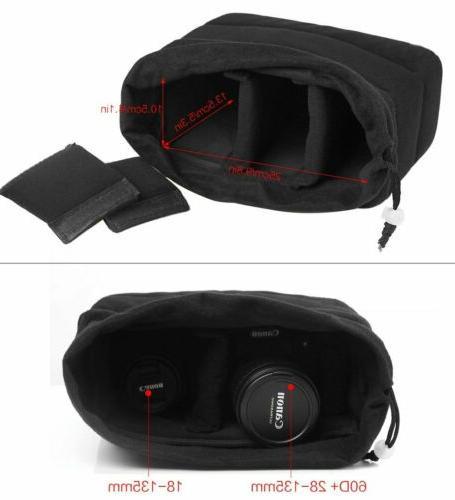 Waterproof Padded Bag DSLR TLR Insert Lens