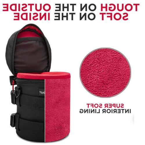 Waterproof Well Padded DSLR Lens Protector Case Set