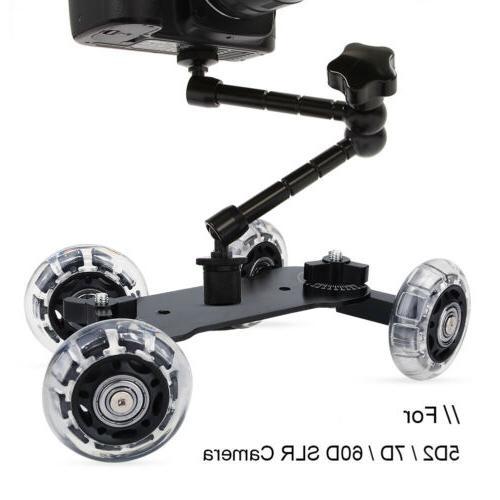 Wheels DSLR Camera Rolling Slider Dolly CO