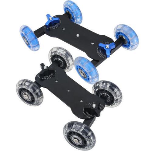 wheels dslr video camera track car stabilizer