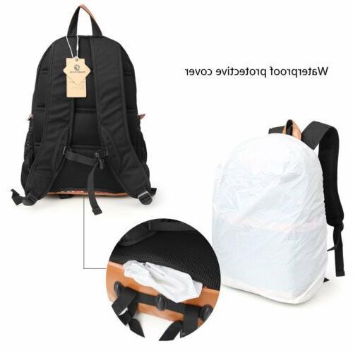 Women DSLR Backpack Padded Bag Canon Nikon Travel Bags