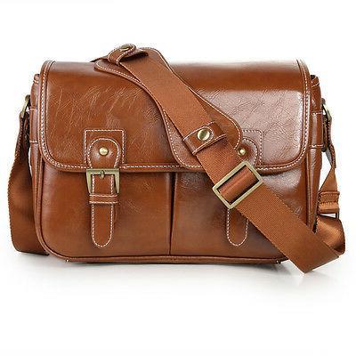 Women's Vintage PU DSLR Case Bag For Canon