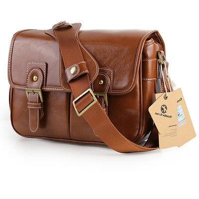Women's Vintage DSLR Camera Bag Case Shoulder Bag For Canon