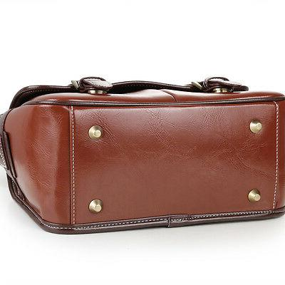 Leather Camera Padded Messenger