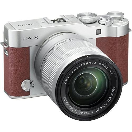 Fujifilm Wi-Fi Digital Camera XC Lens with Card + Flash & Charger Tripod Kit