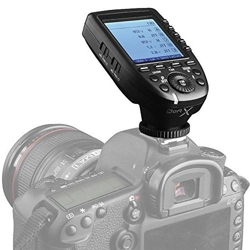 Transmitter with 2.4G Wireless X System HSS LCD Screen Compatible for Canon DSLR