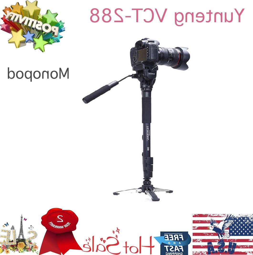 Yunteng VCT-288 Camera Monopod Stand+Fluid Pan Head+Unipod H