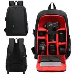 Large DSLR SLR Camera Bag Luggage Insert Backpack Padded Par