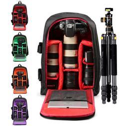 Waterproof Nylon Camera Backpack Large Storage DSLR Bag Note