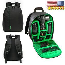 Large Waterproof DSLR Camera Backpack Laptop Bag Shoulder Ca