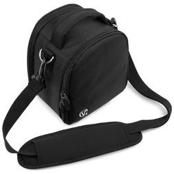 Jet Black VG Laurel DSLR Camera Carrying Bag with Removable