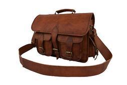 Leather DSLR Camera Bag Messenger Briefcase Sony Canon SLR S