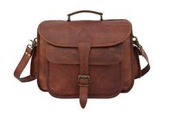 Leather DSLR Camera Bag Messenger Handbag Satchel Canon Niko
