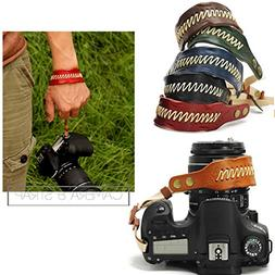 Nicad Camera Leather Wrist Strap - Comfort Padding, Enhanced
