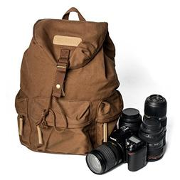 Canvas Vintage Camera Bag,Photography Lightweight Daypack Wa