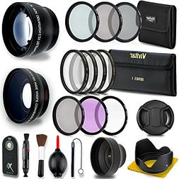 52MM Professional Lens & Filter Bundle – Complete DSLR/SLR