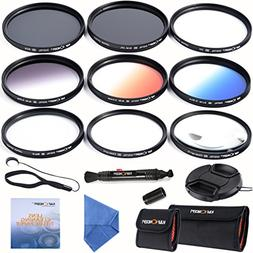K&F Concept 67mm Lens Filter Kit Slim UV Slim CPL Circular P