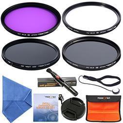 58mm Lens Filter Kit UV Filter Polarizing Filter ND Filter F