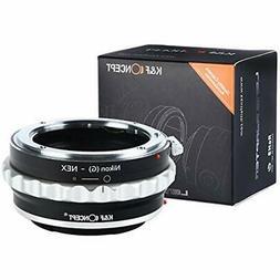 "Lens Mount Adapter, K""F Concept Nikon G F/AI/G To Sony E-Mou"