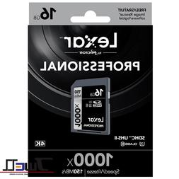 Lexar 1000x 64GB 128GB SD SDXC UHS-II Memory Card For 3D 4K