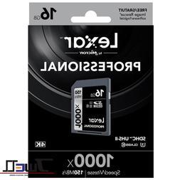 Lexar 1000x 64GB 128GB SD SDXC UHS-II Memory Card For 3D 4K