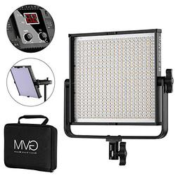 GVM 520 LED Video Light Dimmable Bi-Color Light Panel with D