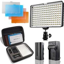 LED Camera Light/Camcorder Video Light Panel, SAMTIAN 160 LE