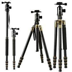 K&F Concept 65 inch Aluminium Camera Tripod and Monopod with