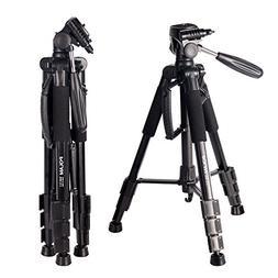 """POLAM-FOTO 55"""" Travel Camera Tripod,Compact Tripod with Bubb"""