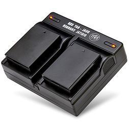 BM Premium Pack of 2 LP-E10 Batteries and USB Dual Battery C